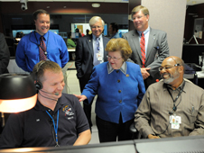 Barbara Mikulski and NASA officials