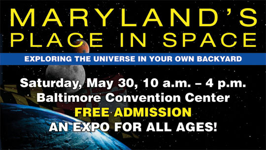 Maryland's Place in Space banner