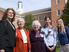 Group of five women attended the 2009 Women in Astronomy conference