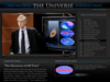Screenshot of interactive feature: The Story of the Universe by John Mather