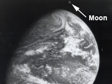 ATS-1 image of Earth and the moon together