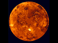 radar-based image of Venus