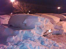 Bangerter's car after the blizzard