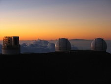 Mauna Kea summit with observatories