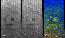 Three views of the Apollo basin with the M3 instrument