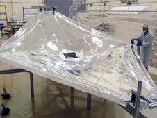 One of the Webb Telescope 1/3 scale sunshield membranes