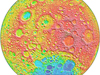 Colorful topography data on the moon's far side from the Lunar Orbiter Laser Altimeter (LOLA)