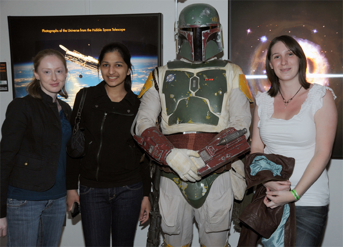 Boba Fett and Yuri's Night guests