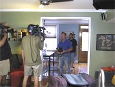 The camera crew invades.