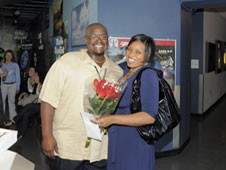 Mark Branch and Trena Ferrell get engaged at Goddard.