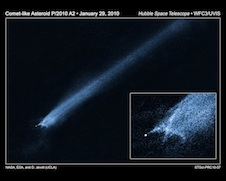 Hubble view of colliding asteroids