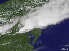 GOES image of the storm clouds associated with the damaging Northeastern storm of July 25, 2010.
