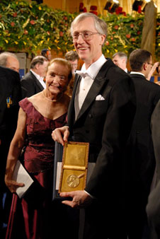 Dr. John Mather and his wife, Jane, at the Nobel Ceremony.  Credit:  The Nobel Foundation 2006