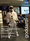 cover of Goddard View showing Milky J in homemade spacesuit