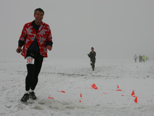 Bill Wrobel runs a marathon in Antarctica