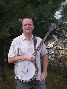 Drake Deming with a banjo