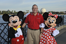 Bernie Edwards with Mickey and Minnie