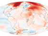 GISS global climate data graphic