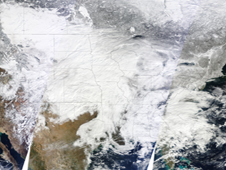 MODIS image of Feb 2011 snowstorm