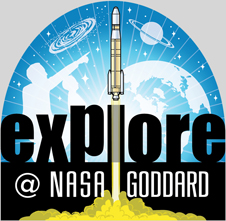 Explore at NASA Goddard logo