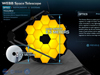 Closeup of James Webb Space Telescope 3D interactive