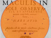 Johannes Fabricius published the first scientific manuscript, titled De Maculis in Sole observatis et Apparente earum cum Sole Conversione Narratio (Narration on Spots Observed on the Sun and their Apparent Rotation with the Sun), on sunspots in June 1611.