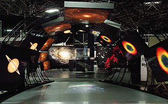 photograph of Hubble Space Telescope exhibit at Goddard Space Flight Center