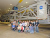A group of tweeters get to a private viewing of Goddard's giant centrifuge used for spacecraft testing during the Sun Earth Day Tweet Up on March 19, 2011.