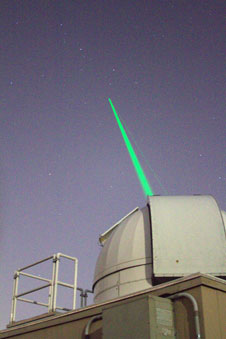 The Laser Ranging Facility shooting a laser into the sky was one of the favorite moments for many tweeters at Sun Earth Day 2011.