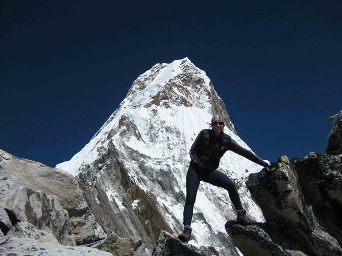 Suzie Imber on Ama Dablam in November 2010.