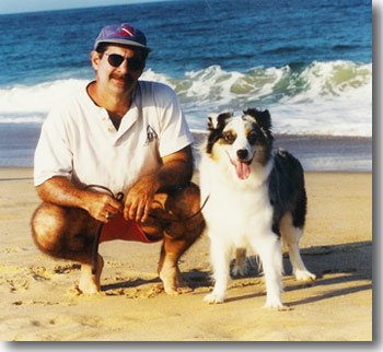 Oren Sheinman with his dog, Maggie