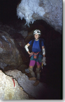 Gail Skofronick Jackson pursuing her love of caving.