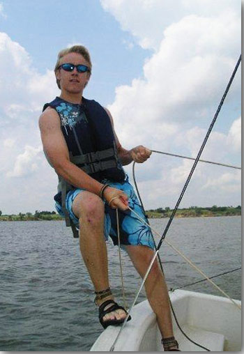 Photo of Paul Dees sailing
