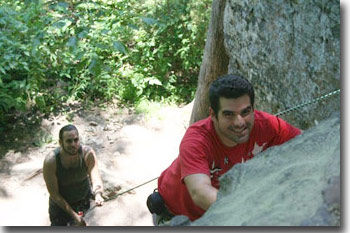 Jaime Toro Medina enjoying rock climbing
