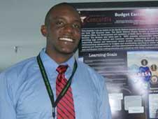 Bernard Itaka at a NASA Poster Session.