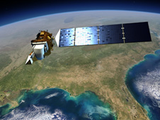 Artist's rendering of the completed Landsat Data Continuity Mission