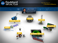 screen capture of the Goddard Virtual Tour