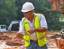 John Gauthier hard at work at Goddard.