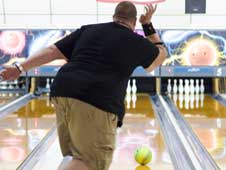 Brian Campbell bowling