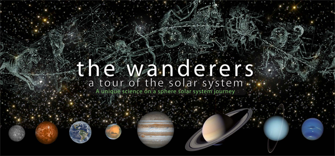 Wanderers mosaic of planets and constellations
