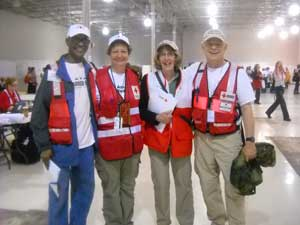 Calvin Williams with his team during the Hurricane Katrina disaster.