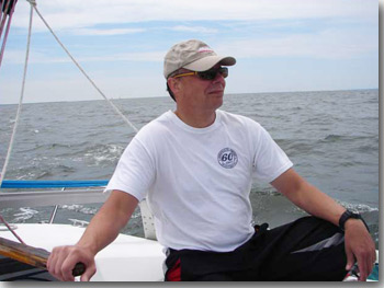 Michael Hesse enjoying sailing