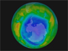 visualization of ozone hole in August 2011