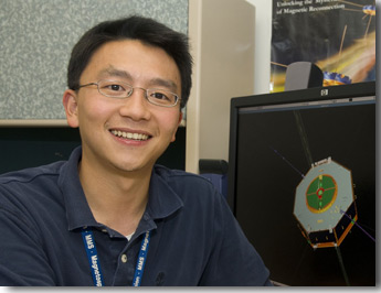 Photo of Dean Chai in his office.