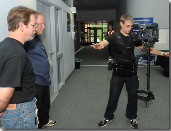 Chris Smith demonstrating the Glidecam