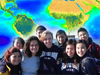 image mosaic of student photo and SeaWiFS biosphere map