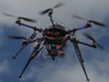 hexacopter in air