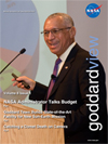 Goddard View cover showing NASA Administrator Charlie Bolden