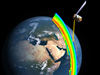 artists concept of OMPS/Suomi measuring ozone over Africa