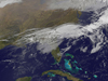 GOES Satellite image of storm front blowing off US Coast